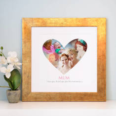 Personalised Heart Montage Art