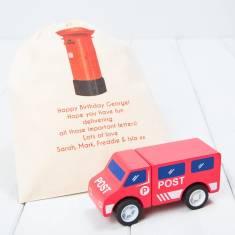 Personalised Post Van Wooden Toy Vehicle