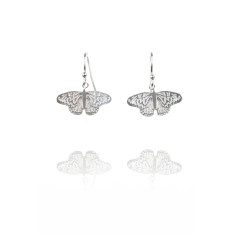 Amanda Coleman - butterfly drop earrings