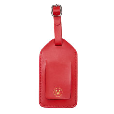 Personalised Basics collection leather luggage tag