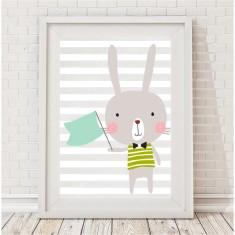Marvin bunny print