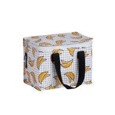 Insulated lunch box bag in Bananas Print