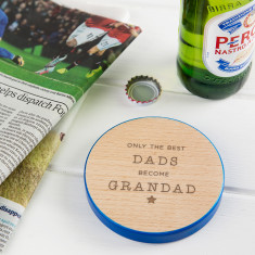 Coloured 'Best Dads Become Grandad' Coaster