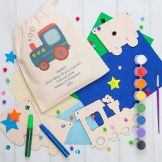 Personalised Train Bunting Craft Kit