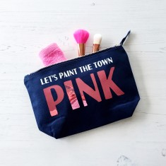 Paint the town pink wash bag