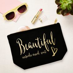 Beautiful Inside and Out Makeup Bag