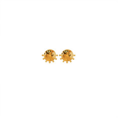 Organic Stud Earrings in 18 KT Yellow Gold Plate