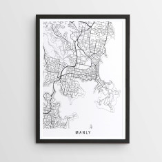 Manly minimalist map print