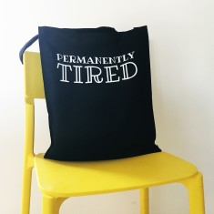 Permanently tired tote bag