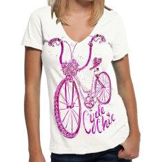 Cycle chic women's t-shirt