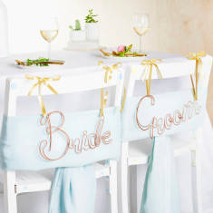 Bride And Groom Wire Chair Backs