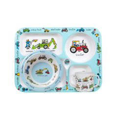 Tyrrell Katz Working Wheels Dinner Set with Training Cup and Spoon