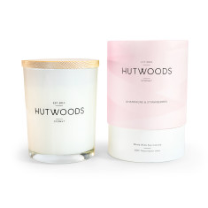 Champagne & Strawberries Wood Wick Candle