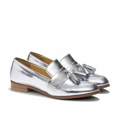 Ecstasy tassel loafers in metallic silver