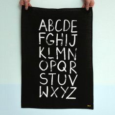 Alphabet Linen Tea Towel