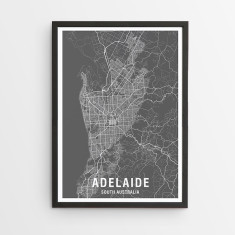 Adelaide map print (various colours)