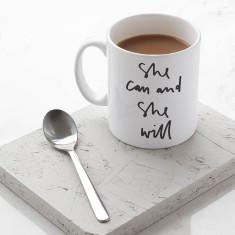 She Can and She Will Mug
