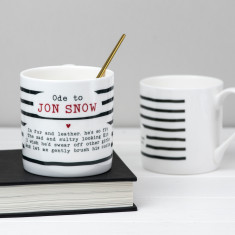 Jon Snow Poem Bone China Mug
