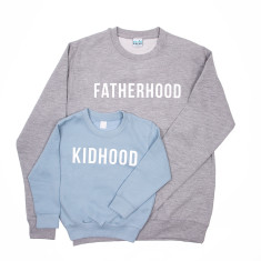 Dad And Me Fatherhood Kidhood Sweatshirt Jumper Set