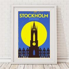 Vintage City Print - Stockholm, Sweden