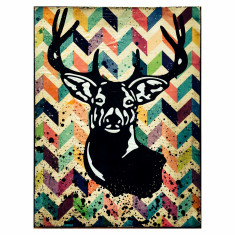 Deer A3 canvas