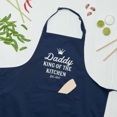 Personalised King Of The Kitchen Cooking Apron