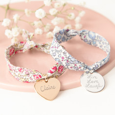 Liberty Bracelet with hand-engraved charm
