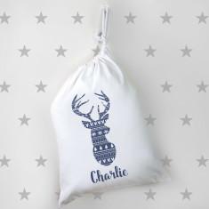 Personalised Small Deer Santa Sack