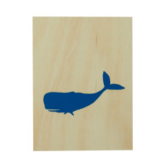 Whale plywood screenprint