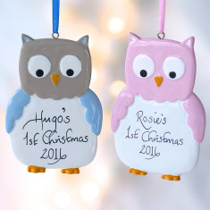 Personalised Owl Decoration