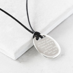 Men's Silver Quote Necklace