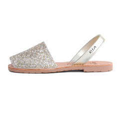 Joan leather sandals in bubbly glitter