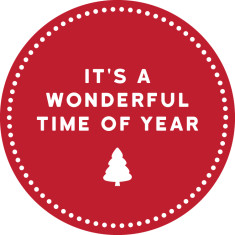 It's a wonderful time of year reusable fabric wall decal