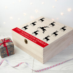 Personalised Reindeer Family Christmas Eve Box - Large