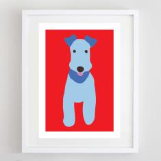 Blue Terrier print