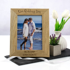 Personalised Our Wedding Day Photo Frame
