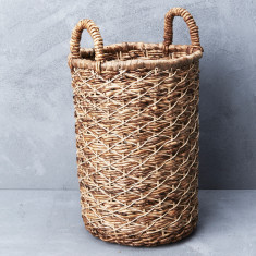 Banana rattan with seagrass laundry basket