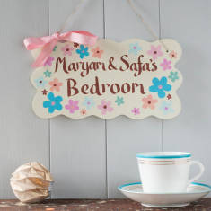 Personalised Wooden Hand Painted Door Sign