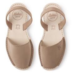 Alohas Camel Suede Sandal