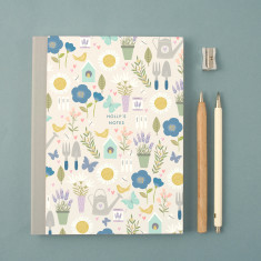 Personalised Gardening Pattern Notebook