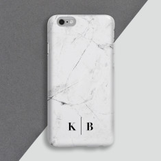 White Marble Personalised Phone Case
