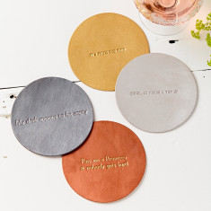 Metallic Leather Coaster