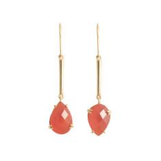 Tangerine carnelian drop earrings