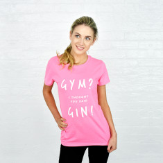 Gym gin exercise t-shirt