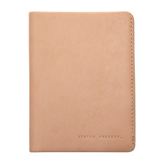 Conquest leather wallet in tan