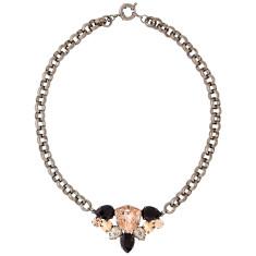 Statement necklace pendant with Swarovski crystals