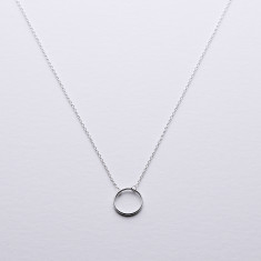Family silver circle necklace