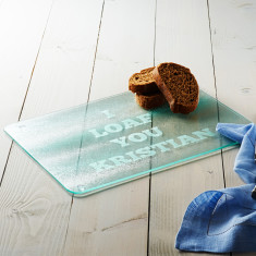 Personalised I Loaf You Bread Board