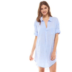 Revallo Shirt Dress In Blue