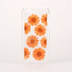 Pressed orange flowers clear phone case for iPhone or Samsung